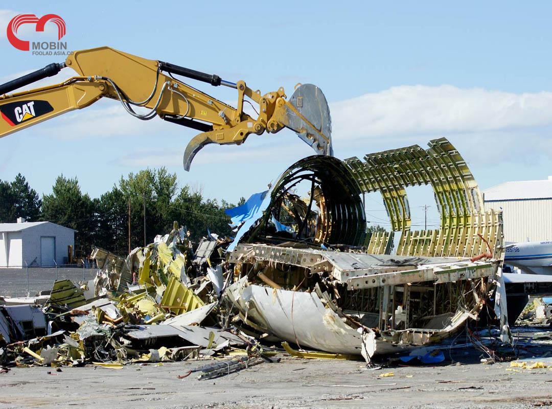 موارد استفاده از قطعات بعد از بازیافت هواپیما